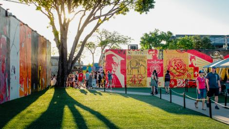 Exploring public art in the Wynwood district of Miami, Florida