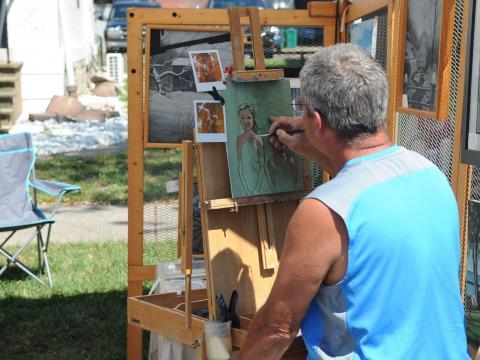A painter at the Allentown Art Festival
