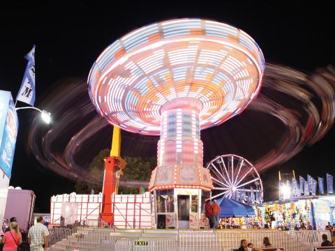 One of Dutchess County Fair's whirling rides