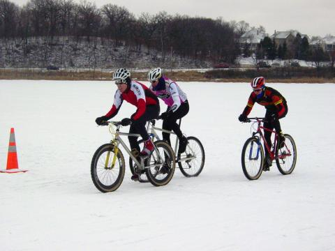Cyclists compete during Winter Fete