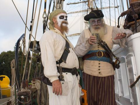 Dressed up as pirates during Marina Spectacular in Marina del Rey, California
