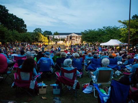 Gathering to hear great music at the W.C. Handy Music Festival