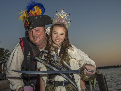All dressed up for the Louisiana Pirate Festival in Lake Charles