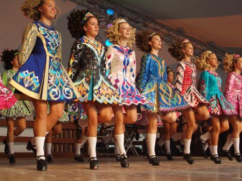 An Irish dance performance during the Dublin Irish Festival in Ohio