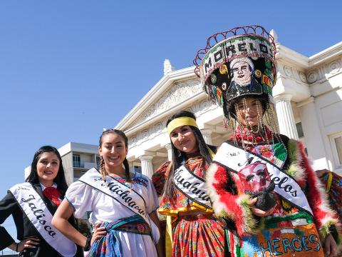 Celebrating diversity in traditional dress from various cultures at the Oxnard Multicultural Festival
