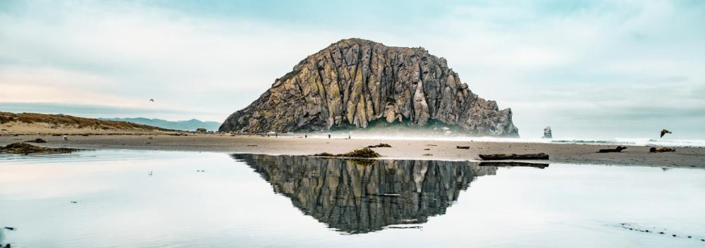 Morro Rock, the ancient volcanic mound in Morro Bay, California