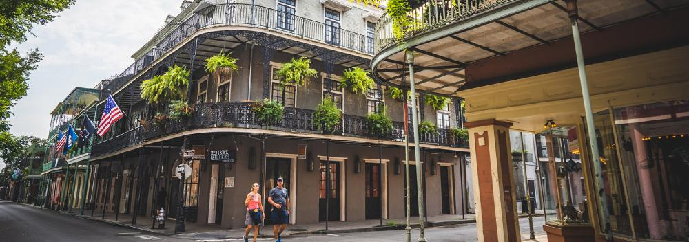 Strolling around the French Quarter in New Orleans, Louisiana